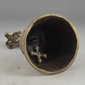Tibétain Singing Bowl Himalayan collecte VIEUX cuivre Elaborate Vieux métiers Laiton Exquise Chinois Bouddhisme De Cuivre Tibétain Exorcisme Bell