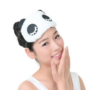 Panda Sleeping Eye Sleep Masques Sommeil Sommeil En Soie Gel Ombre Eyepatch Masque Pour Les Yeux