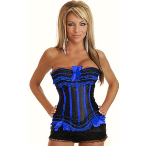 In Stock Free Shipping Plus Size Zipper Side Burn Fat Body Shaper Fitness Corset Clothing Rubber Bones Women Corset Dress 8068