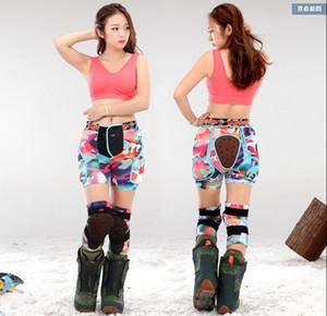 Взрослые лыжный протектор рынк розового камуфляжа Impact шорт бедра подушечка мужского сноуборд ловитель бедро колено сторожевые Hockey брюки