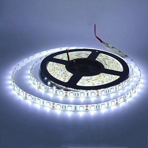 2835 RGB LED Strip impermeável luminaria fita 5M 300LEDs luz fita LED casa 12V carro branco quente luz branca Vermelho Verde Azul
