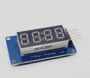 100 adet / grup TM1637 4 Bit Dijital Tüp LED Ekran Modülü Anot Tüpü Ile Dört Seri Sürücü Kartı Paketi Saat