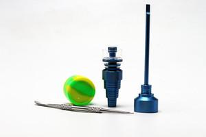 2017 Bong Tool Set 14mm 18mm Quartz couleur titane ongles colorés Carb Cap Dabber Outil Slicone Pot Dab Container Livraison gratuite