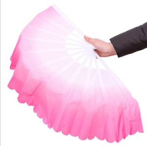 New Chinese silk dance fan Handmade fans Belly Dancing props 5 colors available Drop shipping Hot sale