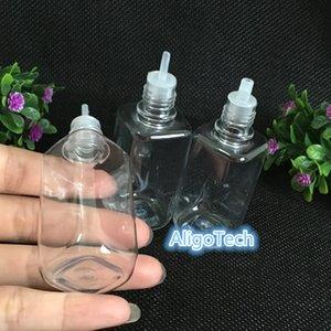1000Pcs E CIGS-Platz Flasche aus Kunststoff Tropfflaschen 10ml 30ml mit bunter Kinderbeweis Kappen für Eliquid E-Saft leerer Flaschen