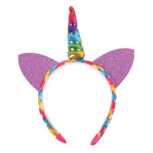 Ursprünglichkeit Kinder Einhorn-Stirnband-Katze-Ohr-Haar-Band-Multicolor-Mädchen-Hauptband Hairwear Kid Geschenk-Partei-Tanz-Performance 5QY C R