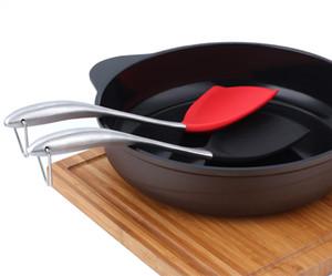 Silikon-Schaufel-Silikongeschirr Antihaft-Silikon-Spachtel-Wok-Turner mit Edelstahl-Griff Küchengeräten