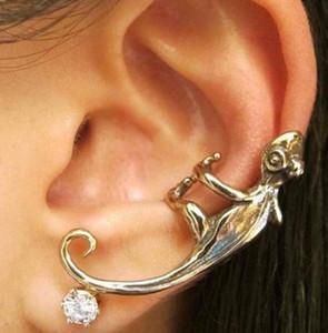 Унисекс Punk Vintage Lizard Antique Silver Antique Copper Ear Cuff ухо Обертка мода украшения для женщин / мужчин
