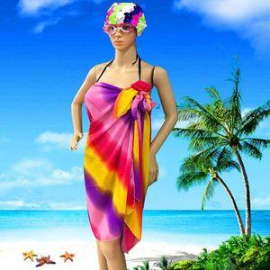 Al por mayor-más tamaño playa sarongs abstracto flor mariposa Bikini Cover-Ups bufanda Wrap Beach hermosa encantadora