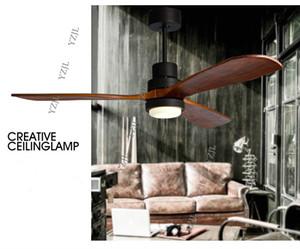 American loft lampadario fan luci creative minimalista ristorante fan luce Scandinavo retrò industriale soggiorno ventilatore luce lampadario