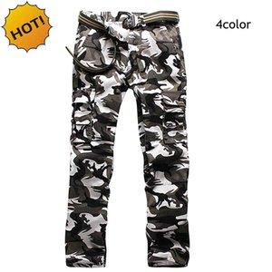 Nueva Moda 2017 otoño de primavera Straight Camouflage Tactical Cargo Pants Hombres Militar Army Pants Mens Baggy Multi Pocket Trousers