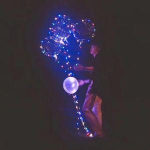 ضوء LED بالون شفاف مريحة 18 بوصة جولة فقاعة الهواء مع أضواء ملونة سلسلة بالونات الهواء Popular B R