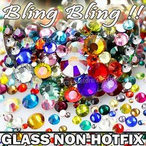 Toptan-Nail Art SS16 Mix Geri ß3 Boyutları SS4 Sıcak Fix Düz Cam, kristaller Renkleri Sigara SS5 SS6 SS8 SS10 SS12 Rhinestone SS20 SS30 Glitter EBCM'de
