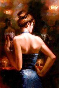 Incorniciato, Lots Wholesale, R320 #, art Portrait Impressionism Bar girl, Dipinti a mano Wall Decor Art Oil Painting Multi formati possono essere personalizzati