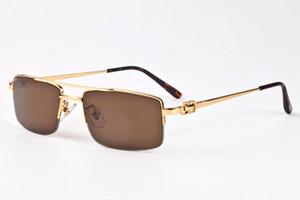 Популярные Женщины способа плоской верхней Sunglasses Brand New Design Линзы Frames рог буйвола очки Женский Винтажные полу без оправы Eyewears