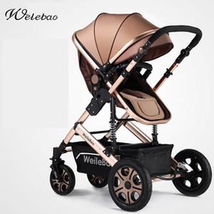 Art- und Weisehochansicht-faltbares Baby Stroll, r Aluminiumlegierung FrameShock-Absorption, tragbarer Pram, Bi-direction-Sportwagen