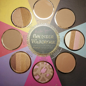 Hot 2 Faced New THE LITTLE BLACK BOOK OF BRONZERS Palette Bronzer Wardrobe Blush Cheek Resaltador Cosmestics Palette