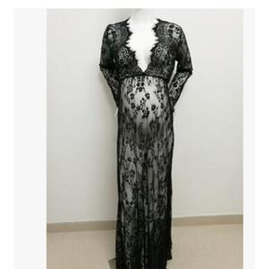 새로운 Puseky 패션 출산 사진 소품 팬시 출산 드레스 임신 의류 맥시 시폰 원피스 사진 세션 드레스