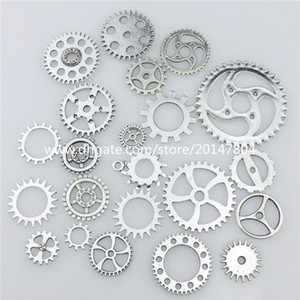 20669 mezcla 40pcs aleación de plata de la vendimia Whell Gear colgante Craft Jewelry Findings