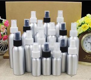 Garrafas vazias de alumínio do pulverizador de perfume do atomizador fino da névoa da garrafa do pulverizador Recipiente de empacotamento cosmético 30/50/100/120/150 / 250ml