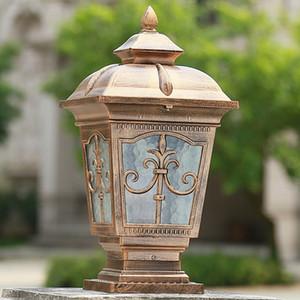Lámparas de pared para exterior LED Bronce antiguo de latón clásico negro aplique exterior impermeable exterior poste de pared superior lámpara de baliza