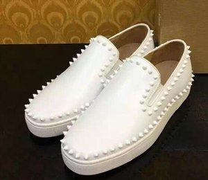 Высокого класса белый/черный замши шипы повседневная обувь 2017 новый для мужчин и женщин низкий топ кроссовки с мягким дном,натуральная кожа размер:36-46