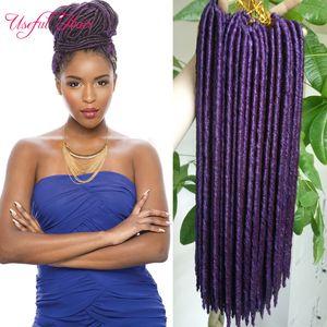 faux locs crochet hair 14,18 inch faux locs braids 24strands / pcs syntheitc extensión de cabello trenzas rectas rastas dropshipping