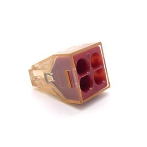 (10pieces / lot) Empuje alambre cableado de conectores para Cajas de conexiones de 4 pines conductor de bloque de terminales PCT-604 / 773-604