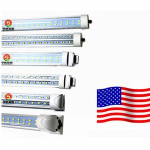 100PCS Lot wholesale 8ft T8 Led Tube lights FA8 Single Pin Integrated G13 R17D Led 72W 8000LM Fluorescent light fixtures AC 85-265V