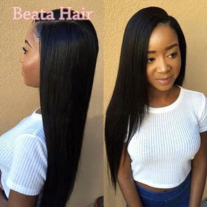 8A Glueless полный кружева человеческих волос парик бразильский Виргинские кружева фронт человеческих волос парики прямые парики человеческих волос для черных женщин