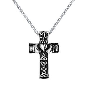 Urn Necklace 십자가 기념관에있는 아일랜드 Claddagh 하트 펜던트 화장 쥬얼리