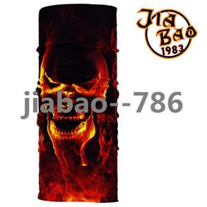 Wholesale-Skull Bandana Stretchable Tubular Bandana For Ski 25*48cm Face Mask Cap Neck Tube Multifunctional Scarf Men Magic skull bandana
