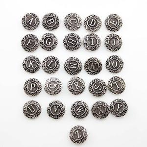 Bouton de charme vintage gingembre snap 26pcs / lot A à Z Lettre anglais fit diy snap bijoux (2 Style)