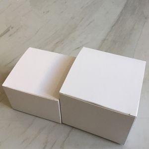 30 pcs-10 * 10 * 7/8/9/10/11/13/14 cm tamanho Grande Caixa De Embalagem De Papel Branco 350gsm Sabão Artesanal Cosmético caixas de armazenamento de válvulas de tubos