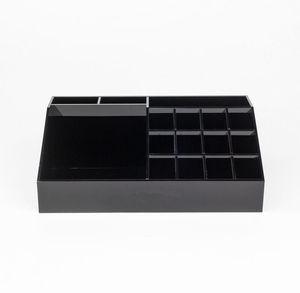 Espositore multifunzionale del rossetto nero acrilico classico Espositore cosmetico Accessori scatole di immagazzinaggio Scatole regalo