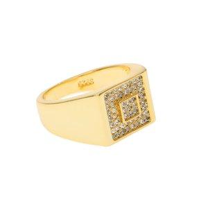 2016 americano marea Marca Hip Hop anello di oro dell'acciaio inossidabile degli uomini di modo squilla per gli uomini HipHop Men Jewelry