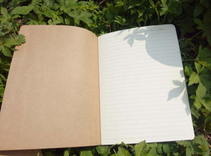 Pagine foderate Diario di viaggio quaderni Kraft Marrone Copertina morbida Notebook A5 Dimensioni 210 mm x 140 mm 60 Pagine 30 Fogli di cancelleria materiale per ufficio