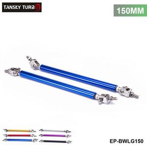TANSKY -Universal 2Pcs / SET 150mm Regolabile Front / Rear Wind Splitter Frame Paraurti Protector Rod Support EP-BWLG150
