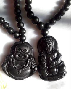 Lumière naturelle Black jade Buddha Gan-yin pendentif grade jadéite Un couple de fabricants de jade vendant des hommes et des femmes M9