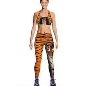 Mujeres Tiger Camisoles Yellow Leopard Tanks Camisas Running Singlet Vest Imprimir Gym Sports Camisetas sin mangas Digital Print Sleeveless A064
