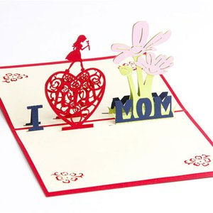 도매 3D 추수 감사절 크리스마스 인사말 카드 나는 엄마를 사랑합니다. bessing cards 어머니, 어머니 감사합니다.