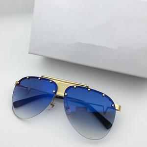 VE2178 Medusa Gafas de sol sin montura piloto de protección UV Hombres Diseñador de la marca Mirrorr lente Steampunk estilo de verano Comw con el caso