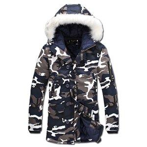 2016 Homens Inverno Camuflagem Casacos Acolchoados Casacos Veste Hmme Parkas Jaqueta Maculina Moda Casual Masculina Slim Fit Jaquetas Amassado