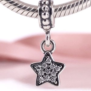 Star Pave Dangle Charm Authentic 925 Sterling Silber mit Farbe Emaille DIY Fine Jewelry 791024CZ Charm