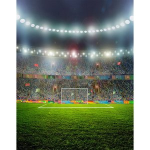 5x7ft Vinyl Football Soccer Stadium Tribunal Campo Quadro Fotografia Estúdio Backdrop Fundo