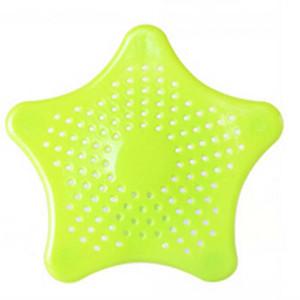 2017 Nouvelle cuisine en silicone à cinq branches étoile filtre filtre salle de bains ventouse sol drains douche cheveux filtre à égout colandres filtre