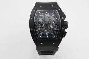 high quality Man 011 watch rubber black case 43mm Black strap Automatic machinery Six-pointer function watch
