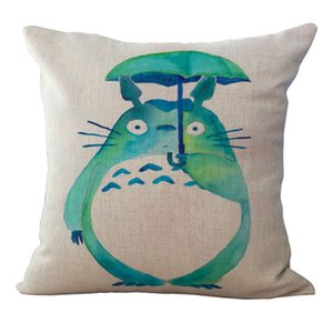 Anime chinchilla Totoro pillow Cases Cushion Cover Pillowcase linen cotton Home decor Soft Square Throw Pillow Case 240431