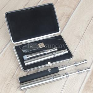 Preriscaldamento 350mAh Vapes Penne Batteria 510 Ceramic Coil Glass Cartucce Starter Kit per Olio di cera Vaporizzatore Penna atomizzatore Custodia in metallo ECigarette