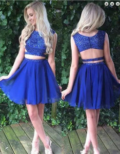 Ball Gown Jewel Neck Short   Mini Lace Tulle Cocktail Party Homecoming Prom Dress with Beading Appliques Lace